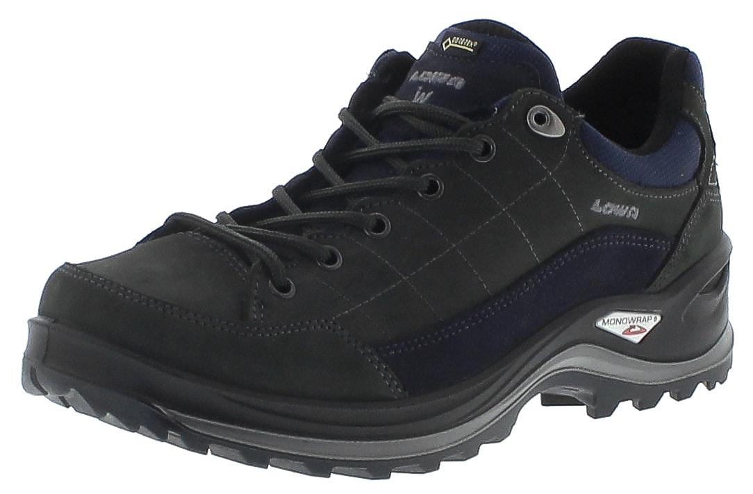 Lowa 310962-9449 RENEGADE III GTX LO WIDE Dunkelgrau Navy Herren Trekking Schuhe - Grau