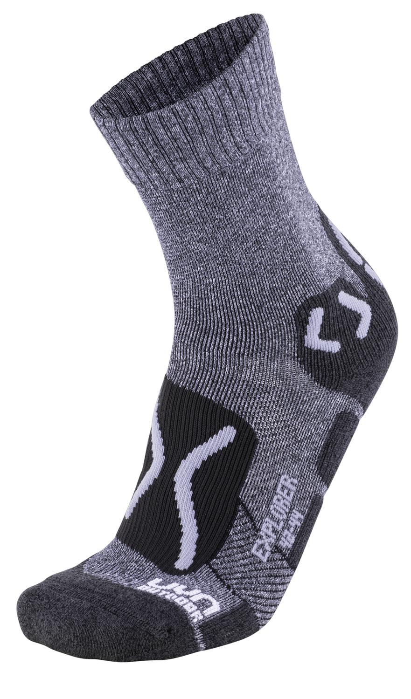 UYN TREKKING OUTDOOR EXPLORER MAN Grey Melange Pearl Grey Herren Socken