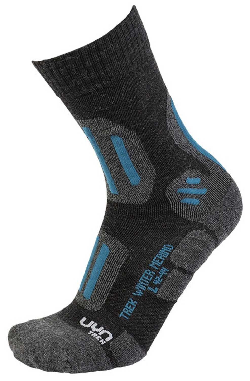 UYN TREKKING WINTER MERINO MAN Anthracite Melange Petrol Blue Herren Socken