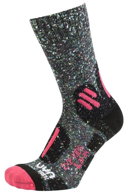 UYN TREKKING OUTDOOR EXPLORER KIDS Grey Multicolor Pink Kinder Socken