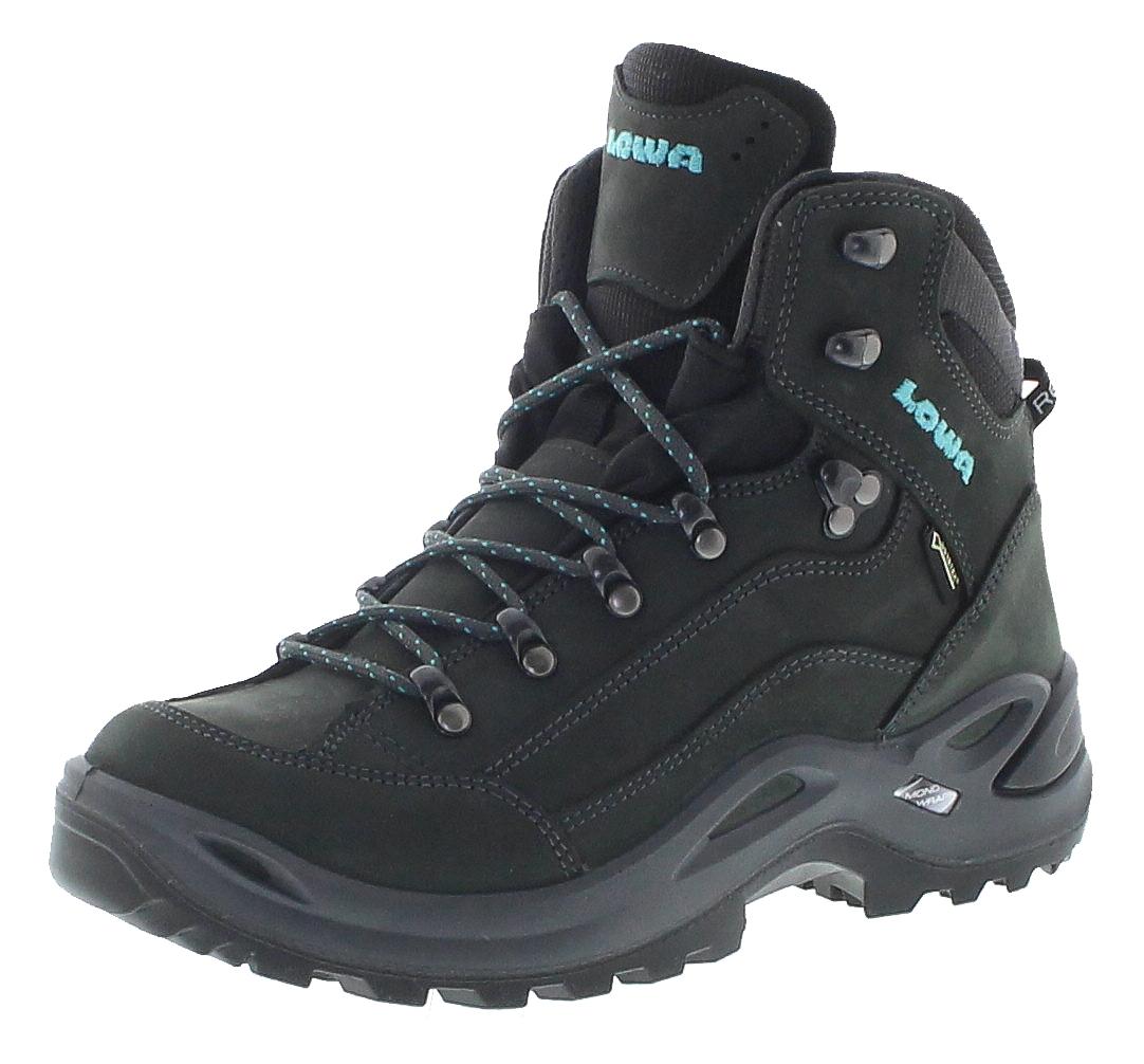 Lowa 320945-9368 RENEGADE GTX MID WS Asphalt Türkis Damen Hiking Stiefel - Graphit