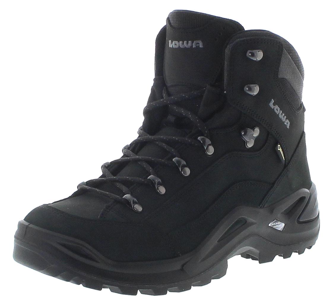 Lowa 310945-0998 RENEGADE GTX MID Tiefschwarz Herren Hiking Schuhe - Schwarz