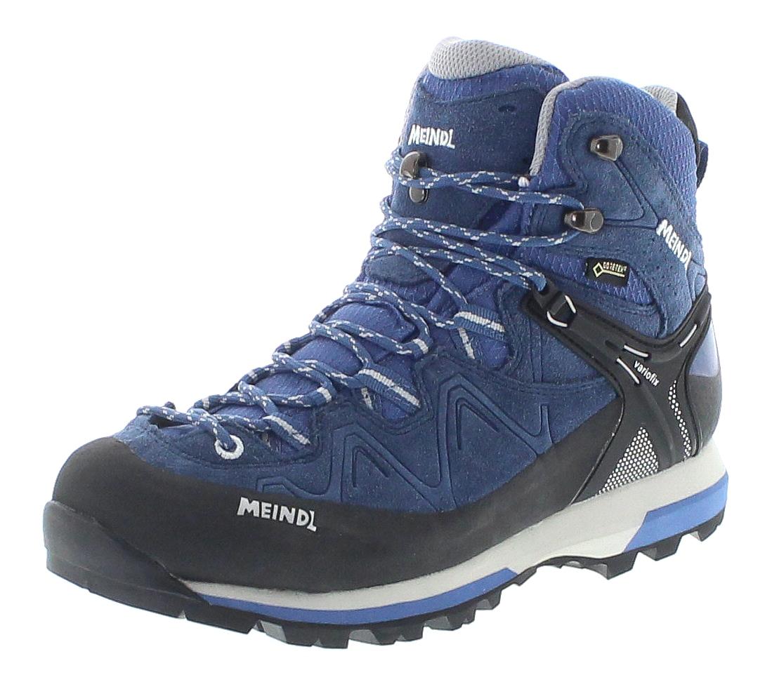 Meindl 3843-29 TONALE LADY GTX Jeans Hellgrau Damen Trekking Schuhe - Blau