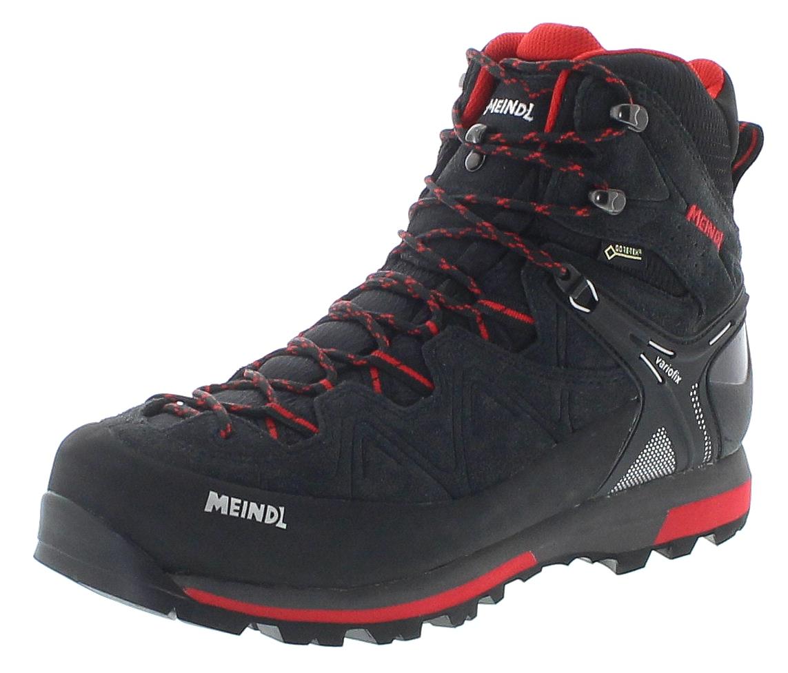 Meindl 3844-01 TONALE GTX Schwarz Rot Herren Trekking Schuhe