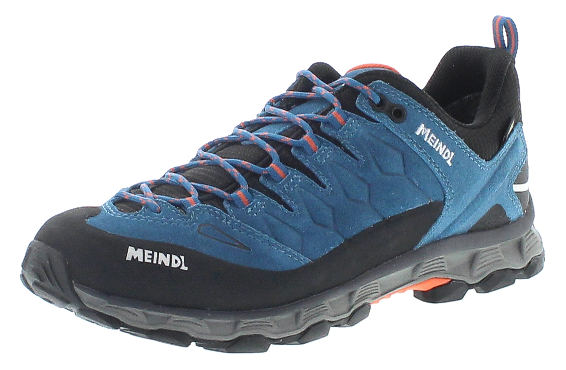 fd931dd33238d Meindl 3966-76 LITE TRAIL GTX Orange Petrol Herren Hiking Schuhe - Blau