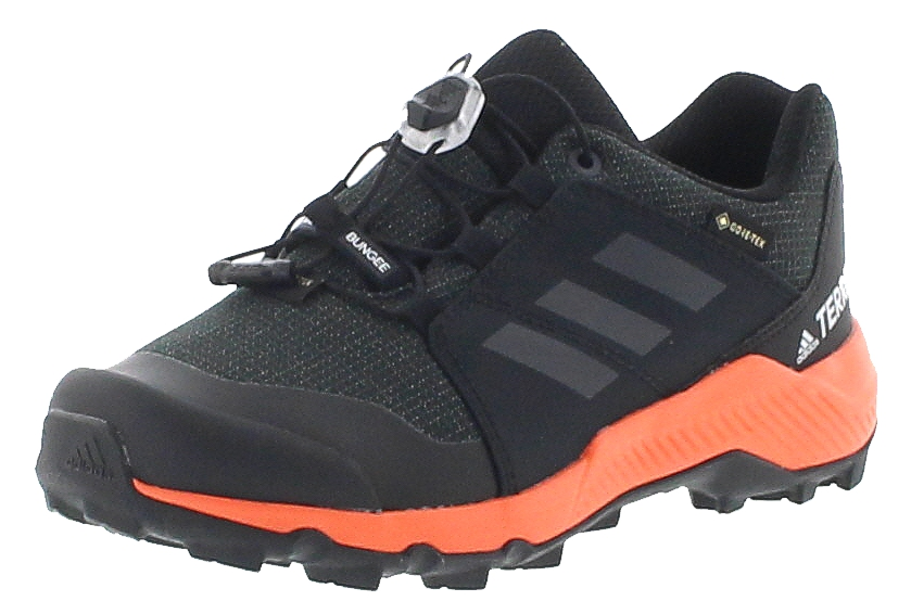 adidas TERREX GTX K Black Carbon Orange Kinder Wanderschuhe Schwarz