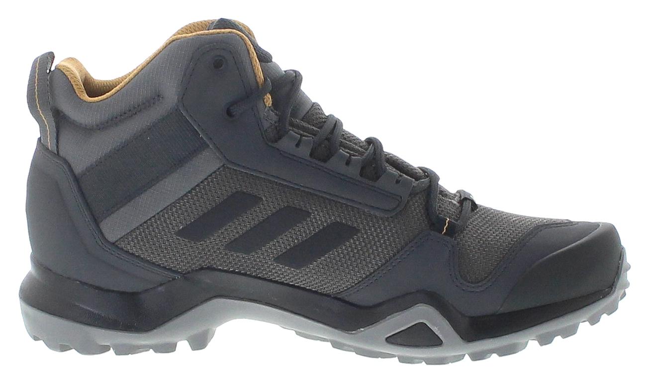 adidas BC0468 TERREX AX3 MID GTX Grey Black Herren Wanderschuhe Schwarz