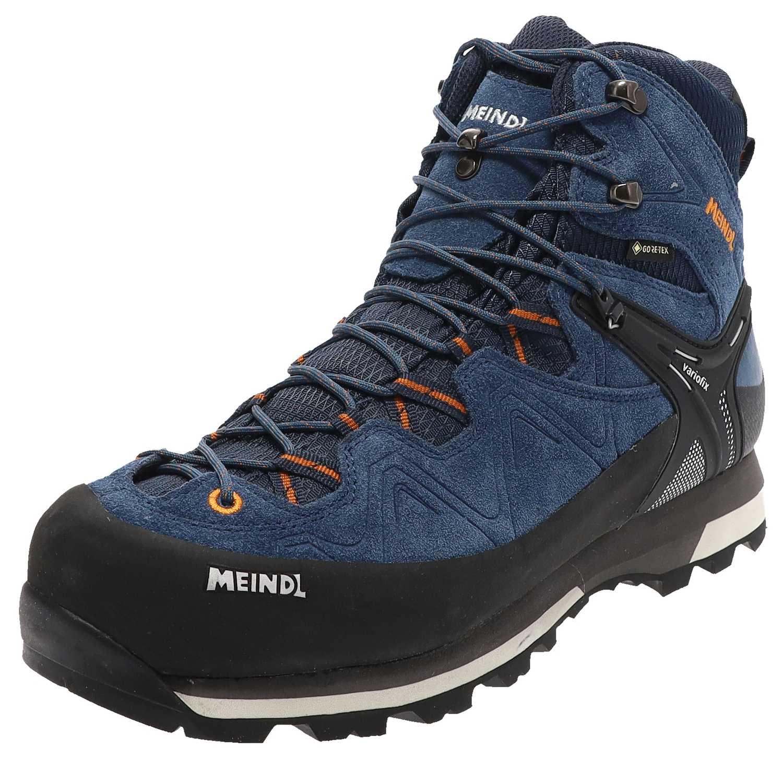 Meindl TONALE GTX Jeans Orange Blau Herren Trekking Stiefel