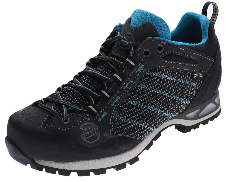 Hanwag MAKRA LOW LADY GTX Asphalt Ocean Damen Trekking Schuhe