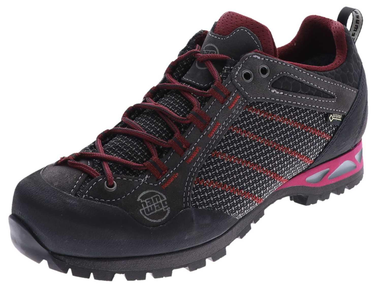 Hanwag MAKRA LOW LADY GTX Asphalt Dark Garnet  Damen Trekking Schuhe