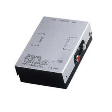 hama PA005 Phono Vorverstärker für MM Systeme