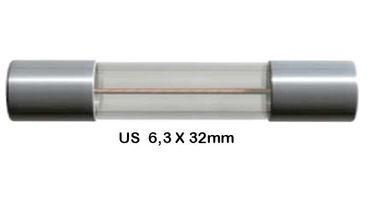 Feinsicherung 6,3x32mm - Träge - Verschiedene Werte