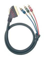 Oehlbach Scart auf RGB/YUV Videoverbindung - 2,00 Meter - aus Inzahlungnahme *