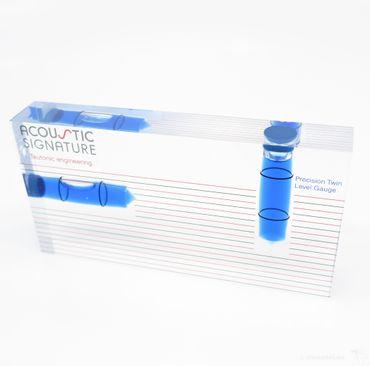Acoustic Signature - 2 Wege Wasserwaage mit Tonarmhöhenskala – Bild 1
