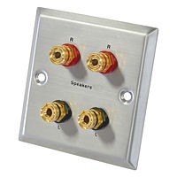 Dynavox LS-4 Lautsprecher-Anschlussblende aus Edelstahl