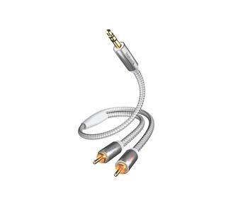 inakustik Premium Porti 3.5 Klinke auf 2 Cinch Verbindung