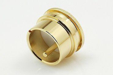 SinnOxx® Male-XLR Caps Abschlusskappe - Vergoldet - Tefloneinsatz – Bild 1