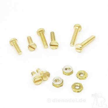XinnTox® PRÄZIS25 - Schraubensatz aus Messing M2,5 Tonabnehmer Schraubensatz