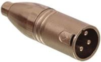 Neddrix Adapter XLR-3-pol-Stecker auf Cinchkupplung