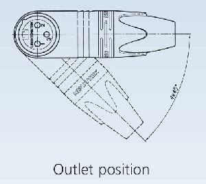 Neutrik XLR-Kupplung-Winkel 3-polig - NC3FRX-B Gold – Bild 2
