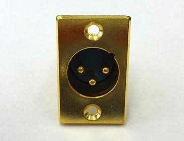 XLR-Einbau-Stecker 3-polig - GOLD – Bild 1
