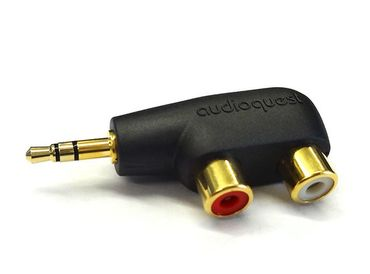 AudioQuest Hard Mini Adapter 3,5mm Klinke STEREO auf 2 x Cinchkupplung