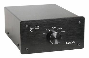 Dynavox 5-fach Eingangs-Erweiterung/Umschalter AUX-S - Schwarz – Bild 1