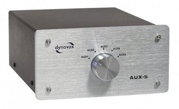 Dynavox 5-fach Eingangs-Erweiterung/Umschalter AUX-S - Silber – Bild 1