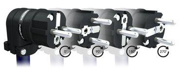Furutech FI-E12L R Rhodium Winkel Schutzkontakt-Stecker – Bild 2