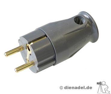Supra Cables Schutzkontakt-Stecker SW-EU Anthrazit – Bild 1