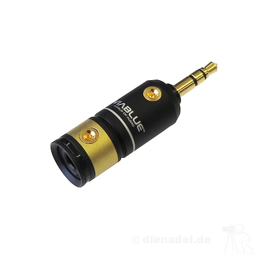 2 Stück T6s Klinkenstecker Stereo 3,5 mm ViaBlue™ High-End Technologies