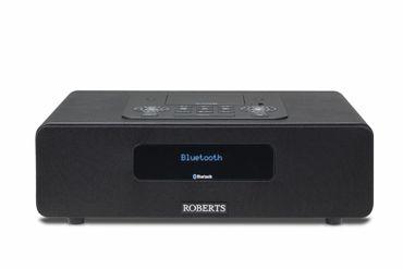 Roberts Radio BluTune65 Schwarz DAB+ / Bluetooth Tischgerät mit Dockingstation und 2.1 Soundsystem – Bild 1