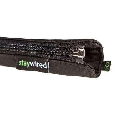 staywired Pro Basic - Schwarz - 200cm Kabelschlauch mit Reißverschluss – Bild 2