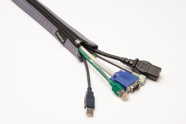 staywired Pro Basic - Grau - 200cm Kabelschlauch mit Reißverschluss – Bild 3