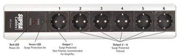 Supra Cables MD06-EU SP MK3 Switch - 6-fach Netzleiste - Mit Schalter & Überspannungsschutz – Bild 4