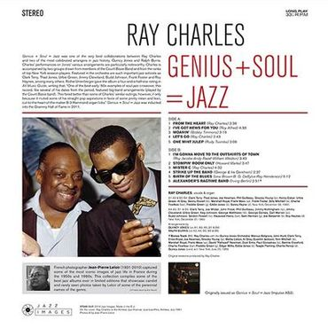 Ray Charles - Genius+Soul = Jazz - 180gramm LP - Jazz Images