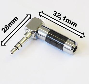SinnOxx® CBrh90° Rhodium Winkel-Klinken-Stecker 3,5mm STEREO – Bild 2