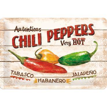 Chili Peppers - Blechschild 20x30cm - Nostalgic Art
