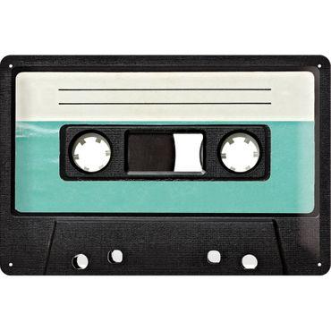 Retro Cassette - Blechschild 20x30cm - Nostalgic Art