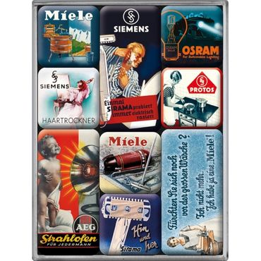 Traditionsmarken - Magnet Set - 9-teilig - Nostalgic Art – Bild 1