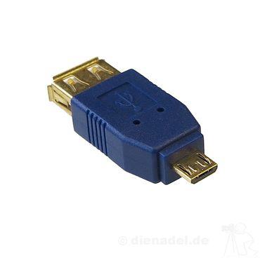 HQ Adapter USB A Female auf USB Micro B Stecker – Bild 1