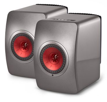 KEF LS50 Wireless - Titangrau - Rot