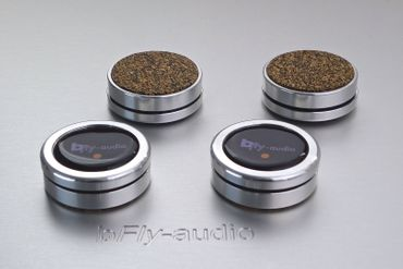 bfly-audio - PURE - 17mm Silber - Absorber - 4er Set