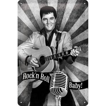 Elvis Presley - Rock n Roll Baby - Blechschild 20x30cm - Nostalgic Art