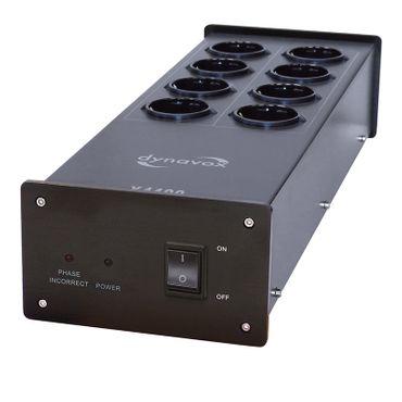 Dynavox HiFi-Steckdosenleiste X4100 Schwarz mit Netzfilter - 8-fach – Bild 1