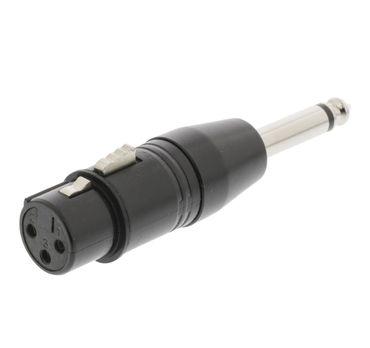 Sweex Adapter - XLR 3pol Kupplung auf 6,35 MONO Klinkenstecker – Bild 1