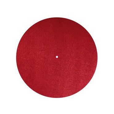 Dynavox Plattentellerauflage PM2 Filz Rot – Bild 1