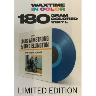 Armstrong & Ellington - The Great Summit - 180gramm VINYL-LP in Blau - WaxTime Records – Bild 1