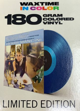 Breakfast At Tiffany - Henry Mancini - 180gramm LP in Blau - WaxTime in Color