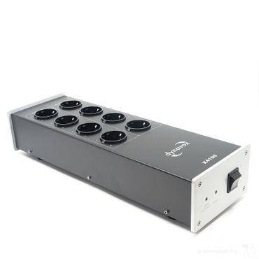 Dynavox HiFi-Steckdosenleiste X4100 Silber mit Netzfilter - 8-fach